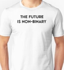 The Future Is Non-Binary (black text) T-Shirt