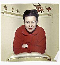 Simone de Beauvoir - Stilisiert Poster