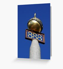 Eight Hours Monument Greeting Card
