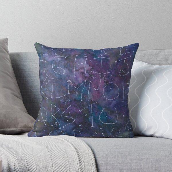 ABC on galaxy mode Throw Pillow