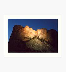 Mt. Rushmore at Dusk Art Print