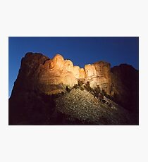 Mt. Rushmore at Dusk Photographic Print
