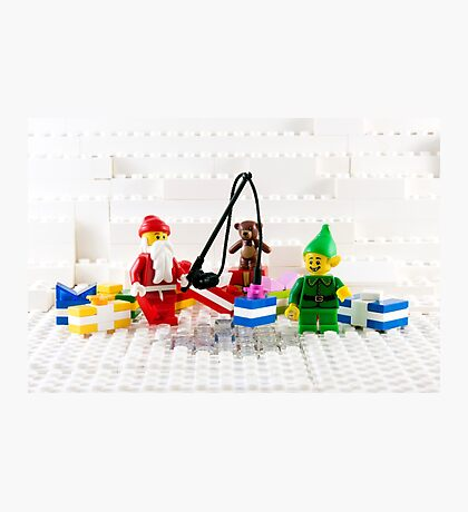 Santa Fishing for Gifts Photographic Print