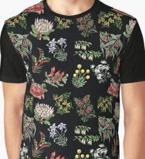 Native Flower Lino Print Graphic T-Shirt