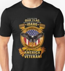 I Stand For Our Flag Idaho Military Family Veterans T-Shirt