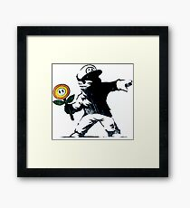 The Mario Flower Chucker Framed Print