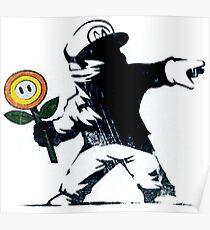 Der Mario Blumen Chucker Poster