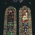 1235 Glass from Beauvais, James John, Cathedral Reims France 19840823 0032  by Fred Mitchell
