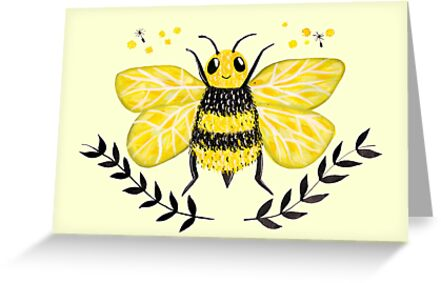 Wattle it bee greeting cards by makemerriness redbubble wattle it bee by makemerriness m4hsunfo