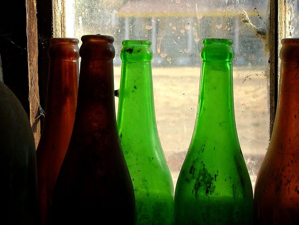 Bottles in the Window by Desertgypsi