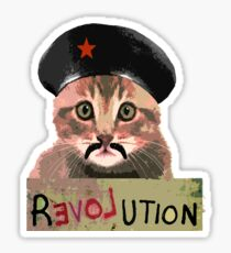 Funny Cute Revolution Kitten Cat  activist protest tshirt Sticker