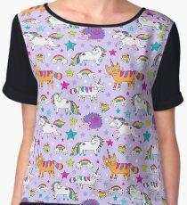 Unicorns, caticorns Women's Chiffon Top