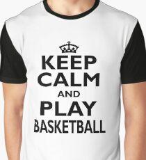 Basketball Sport Gift-Keep Calm and Play Basketball - Funny Birthday Present Graphic T-Shirt