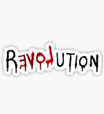 Revolution Love Graffiti street art resist protest t shirt Sticker