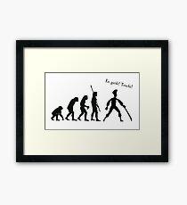 Evolution of insult swordfighting Framed Print