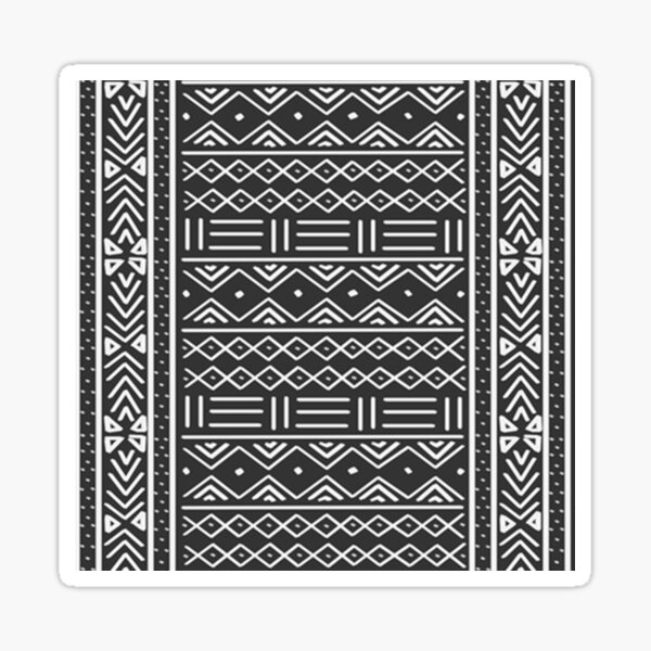 charcoal african mud cloth Sticker