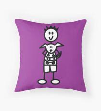 The boy with the spiky hair - dark purple Throw Pillow