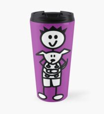 The boy with the spiky hair - dark purple Travel Mug