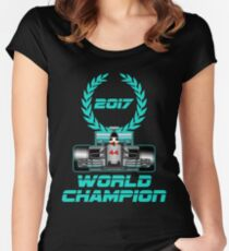 Lewis Hamilton F1 2017 World Champion Women's Fitted Scoop T-Shirt