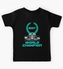 Lewis Hamilton F1 2017 World Champion Kids Tee