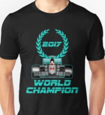 Lewis Hamilton F1 2017 World Champion Unisex T-Shirt