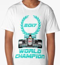 Lewis Hamilton F1 2017 World Champion Long T-Shirt