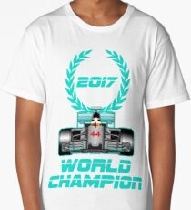 Lewis Hamilton F1 2017 World Champion Long T-Shirt