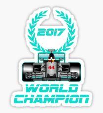 Lewis Hamilton F1 2017 World Champion Sticker