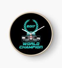 Lewis Hamilton F1 2017 World Champion Clock