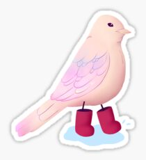 Rainbootbirb Without Background Sticker
