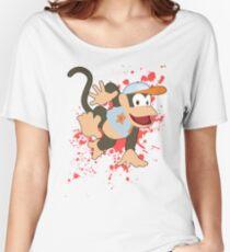 Diddy Kong (Light Blue Alt.) - Super Smash Bros Women's Relaxed Fit T-Shirt