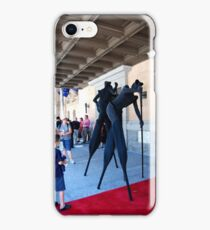 Street performers in black iPhone Case/Skin