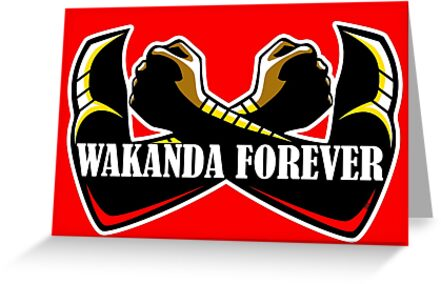 Wakanda Forever (Red) by Drobbins