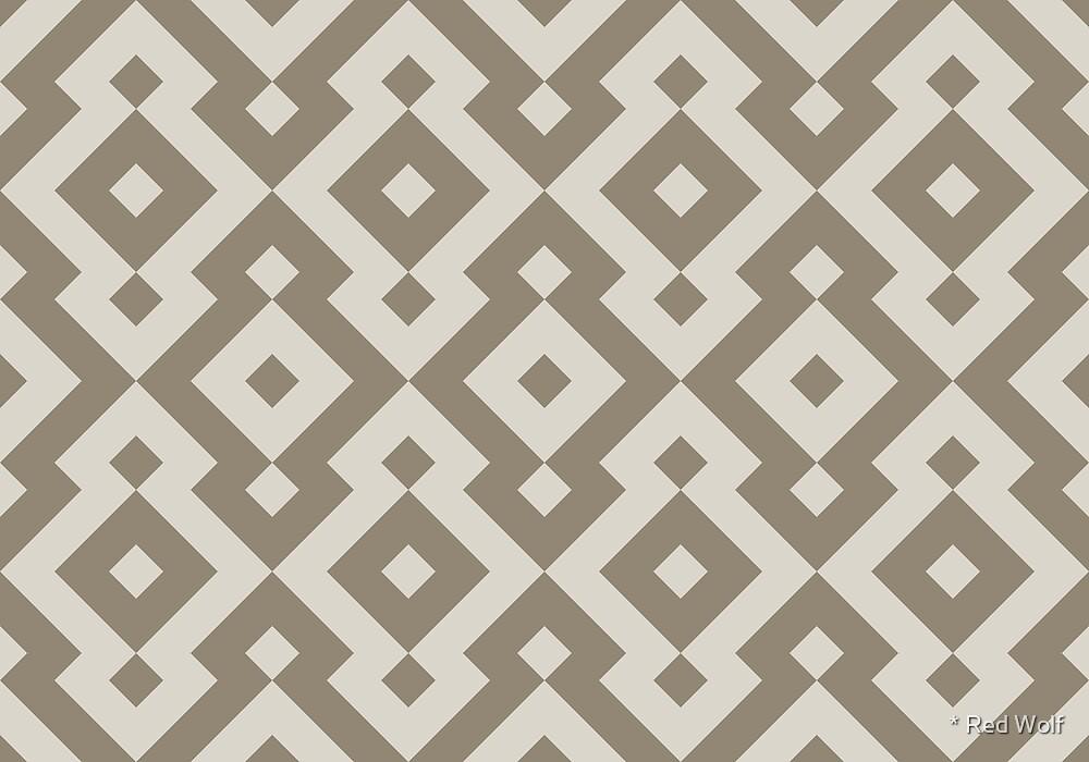 Geometric Pattern: Diamond: Grey by * Red Wolf