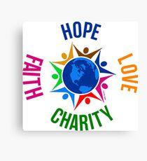 Hope Love Charity Faith Canvas Print
