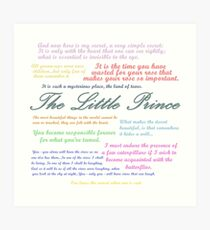 The Little Prince Quotes Art Print