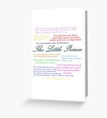 The Little Prince Quotes Greeting Card