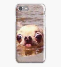 Swimming dog iPhone Case/Skin