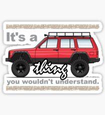 Red XJ 4x4 Lifted Sticker