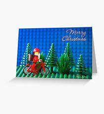 Cycling Santa Greeting Card