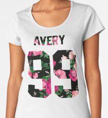 Jack Avery - Colorful Flowers Women's Premium T-Shirt
