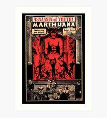 Moloch: Assassin of Youth! (Vintage 1950 Anti-Marijuana Propaganda Poster) Art Print