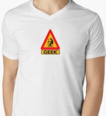 Geek Warning Men's V-Neck T-Shirt