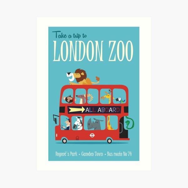 Take a Trip to London Zoo Art Print