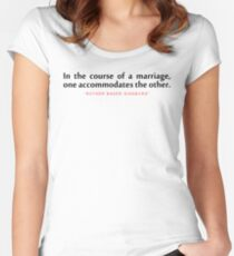 """In the course...""""Ruth Bader Ginsburg"""" Inspirational Quote Women's Fitted Scoop T-Shirt"""