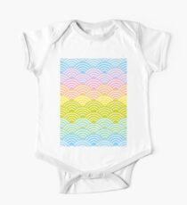 Seigaiha or seigainami  rainbow  pattern abstract scales Kids Clothes