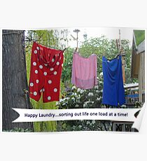 Happy Laundry Poster