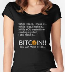 Making Bitcoin Shirt Women's Fitted Scoop T-Shirt