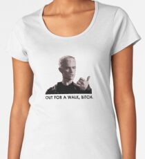 Spike, out for a walk - dark font Women's Premium T-Shirt