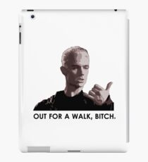Spike, out for a walk - dark font iPad Case/Skin